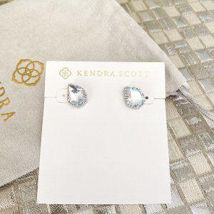 Kendra Scott Tessa Earrings Silver Dichroic Glass